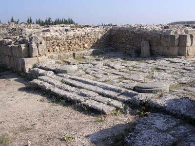 Entrance to the palace at Ugarit